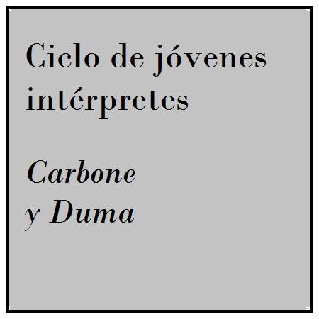 Imagen banner 14 y 15/abr CARBONE Y DUMA