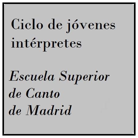 Imagen banner 14 y 15/abr ESCUELA SUPERIOR DE CANTO DE MADRID