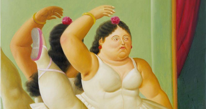 Fernando Botero_Bailarina en la barra, 2001_850